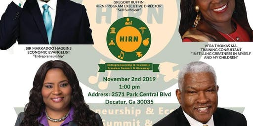 HIRN ENTREPRENEURSHIP & ECONOMIC FREEDOM SUMMIT & GIVEAWAY