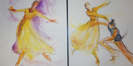 NYC Drawing the Dance Workshop Session - October 19, 2019, Sat@12:30p.m.