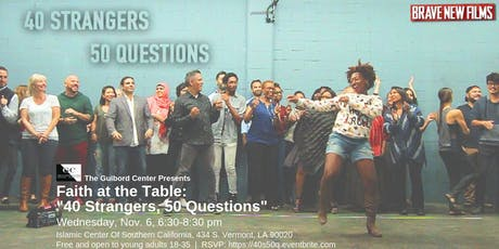 Faith at the Table: 40 Strangers, 50 Questions tickets