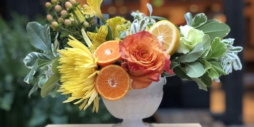 Citrus Fruits: A Floral Workshop with Marbled Mint