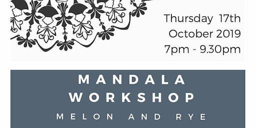 Mandala Workshop with Cathy Gray at Melon and Rye