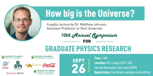 """""""How Big Is the Universe?"""" A Public Talk by Prof. Matthew Johnson"""