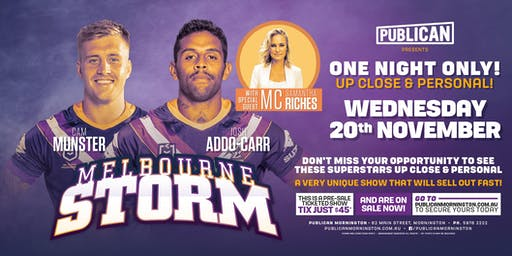 Cam Munster and Josh Addo-Carr LIVE at Publican, Mornington!