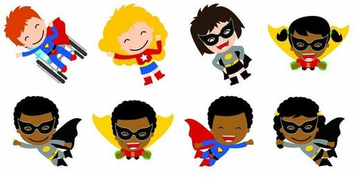 Zumbini Superhero Party for ages 0-4 yrs old
