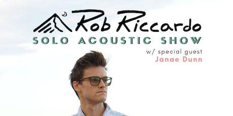 Rob Riccardo w/ special guest Janae Dunn tickets