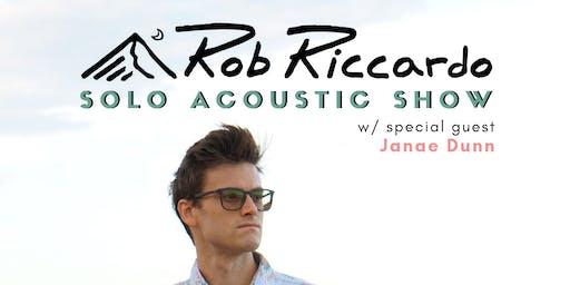 Rob Riccardo w/ special guest Janae Dunn
