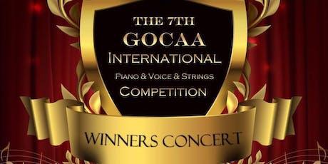 GOCAA  International Piano Competition winner concert tour ( LA) tickets