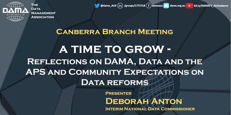 Reflections on DAMA, Data and the APS and Community Expectations on Data Reforms tickets