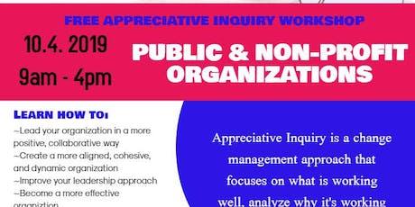 Appreciative Inquiry Workshop for Public & Non-profit Organizations tickets