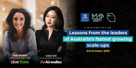 Lessons from the leaders of Australia's fastest growing scale-ups tickets