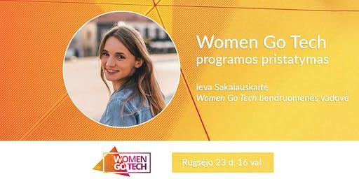 WOMEN GO TECH mentorystės ir konsultacijų programos pristatymas