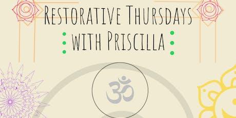 Restorative Yoga with Priscilla tickets