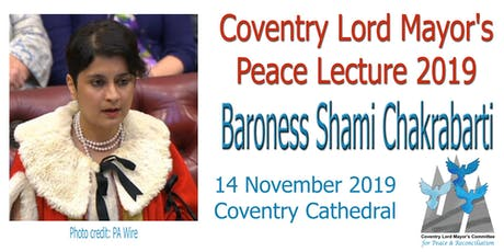 Coventry Peace Lecture 2019 tickets