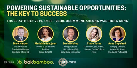 Powering Sustainable Opportunities : The Key to Success - Hong Kong tickets