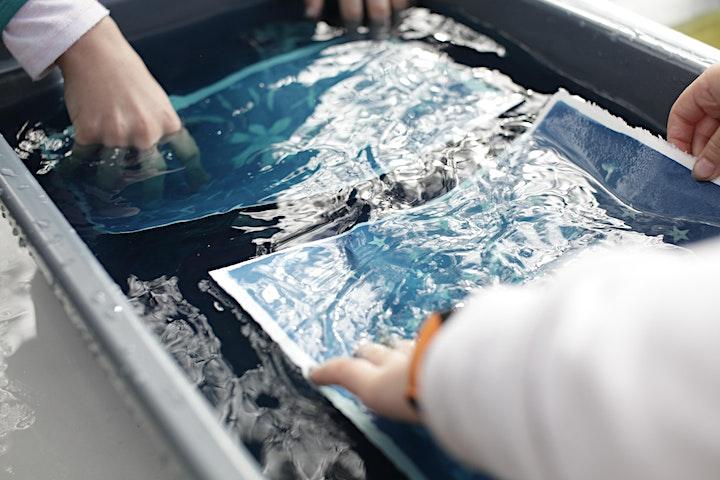 Kids Holiday Workshop: Cyanotype Printing image