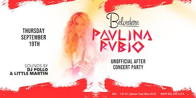 Paulina Rubio After Concert Party