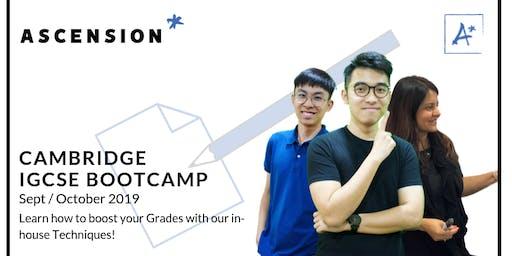 Cambridge IGCSE Bootcamp 2019