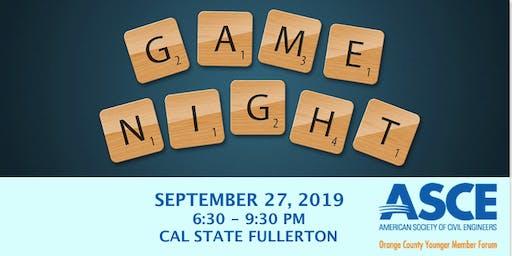 2019 University Outreach Game Night Social