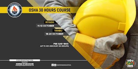 Riyadh:OSHA 30 Hours Safety Training (SAR-1800 Fee,up to 40% Group Discount tickets