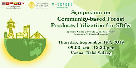 Symposium on Community-based Forest Products Utilization for SDGs tickets