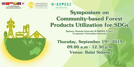 Symposium on Community-based Forest Products Utilization for SDGs