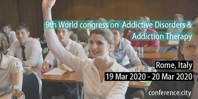 9th World congress on  Addictive Disorders & Addiction Thera