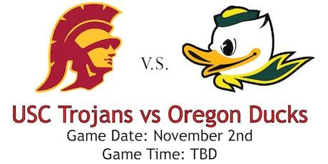 USC Alumni Club of SGV and USC Athletics Fundraiser: USC vs Oregon Ducks Football Tickets November 2, 2019 @TBD tickets