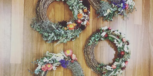 Everlasting Botanical Christmas Wreath Workshop OXFORD FALLS PEACE PARK