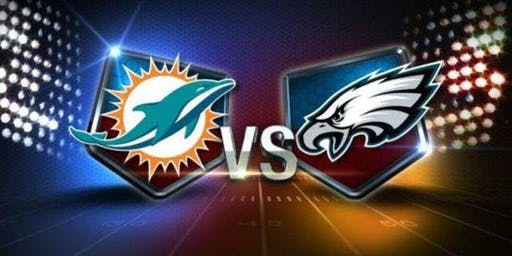 NFL Viewing Party at the TIKI BAR: DOLPHINS vs EAGLES