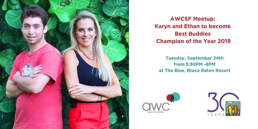 AWCSF Meetup: Karyn and Ethan to become Best Buddies Champion of the Year