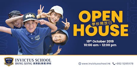 Open House @ Invictus School Hong Kong 19th October 2019 tickets