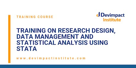 Research Design, Data Management and Statistical Analysis using STATA tickets