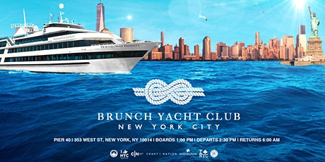 NYC #1 Brunch Yacht Club Cruise Mega Yacht INFINITY Boat Party Manhattan tickets