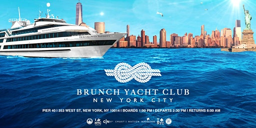 NYC #1 Brunch Yacht Club Cruise Mega Yacht INFINITY Boat Party Manhattan