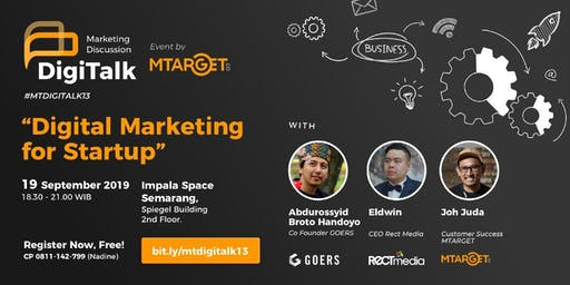 """MTARGET DigiTalk 13 """"Digital Marketing for Startup"""""""