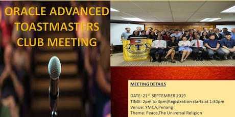Oracle Advanced Toastmasters Club Meeting tickets