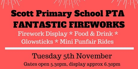 Scott Primary School Fireworks tickets