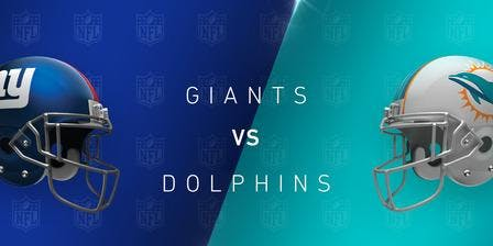 NFL Viewing Party at the TIKI BAR: DOLPHINS vs GIANTS