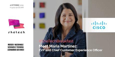 #SheTechBreakfast - Meet Maria Martinez (Cisco) biglietti