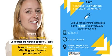 Is your leadership style affecting your team's performance? tickets