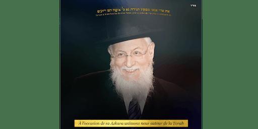 """Shabbat KI TAVO en l'honneur de la Azkara du Rav Sitruk Z""""L"""
