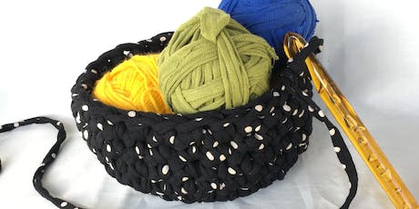 T-shirt Yarn Crochet Baskets tickets