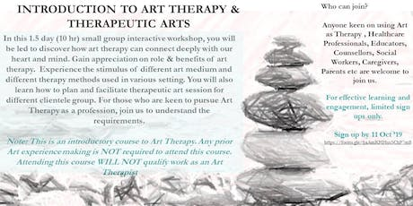 Introduction to Art Therapy and Therapeutic Arts tickets
