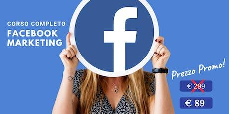 Corso Facebook Marketing in aula 25-26 Settembre 2019 biglietti