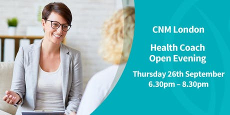 CNM London - Free Health Coach Open Evening tickets