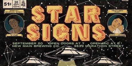 "The Speakeasy Open Mic's ""STAR SIGNS"" in Arlington tickets"