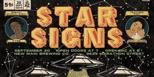"The Speakeasy Open Mic's ""STAR SIGNS"" in Arlington"