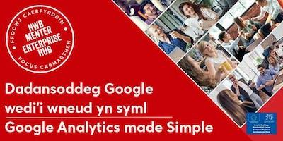 Dadansoddeg Google wedi'i wneud yn syml | Google Analytics Made Simple