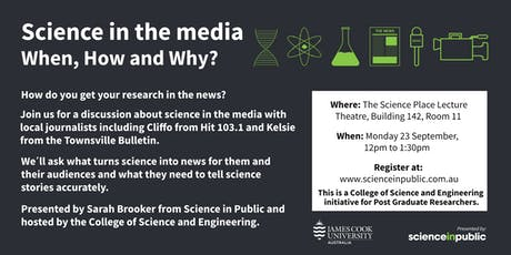Science in the media: when, how and why? - Townsville tickets