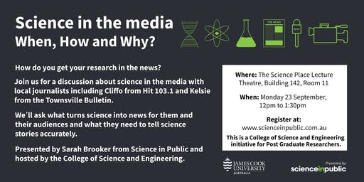 Science in the media: when, how and why? - Townsville